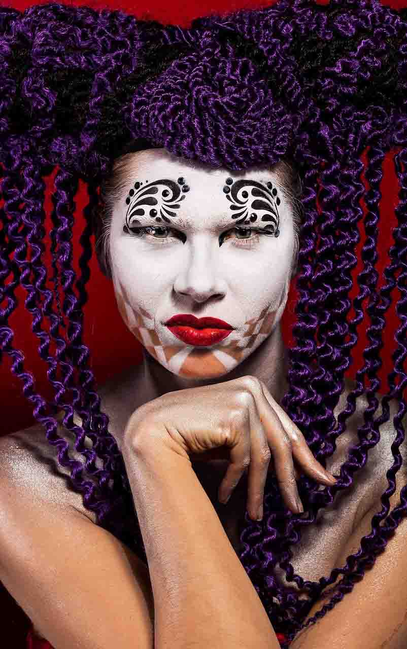 Harelquin Creative makeup look-conceptual art photography at FTphotography