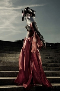 2Cyber Geisha-concept, costume, hair & makeup photographed by Mathew Preece