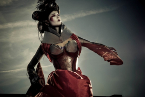 3Cyber Geisha-concept, costume, hair & makeup photographed by Mathew Preece