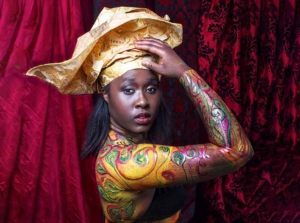 African body art painting at ftphotography London