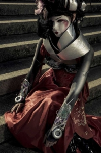 Cyber Geisha-concept, costume, hair & makeup photographed by Mathew Preece