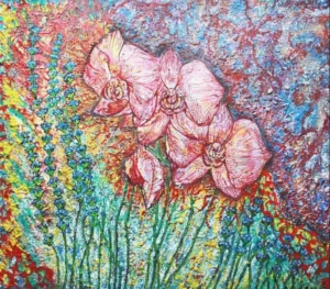 Flower painting by Fiona Tanner