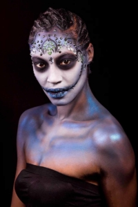 Mexican day of the dead look conceptual art photography