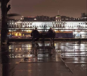 Rain-and-Reflective-Surfaces-Embankment-at-Night