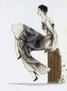 Galliano dress inspired illustration